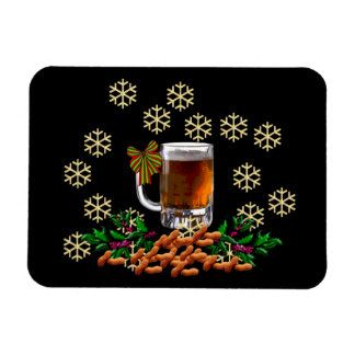 Beer and Peanuts Rectangular Photo Magnet