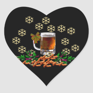 Beer and Peanuts Heart Sticker