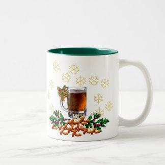 Beer and Peanuts Two-Tone Coffee Mug