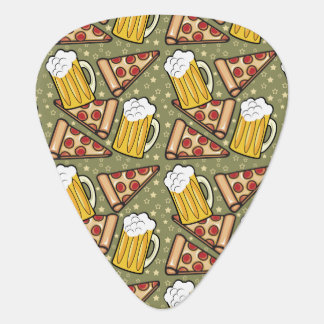 Beer and Pizza Graphic Pattern Pick