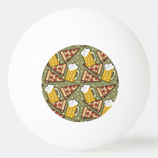 Beer and Pizza Graphic Pattern Ping Pong Ball