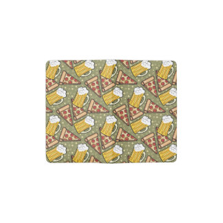 Beer and Pizza Graphic Pocket Moleskine Notebook