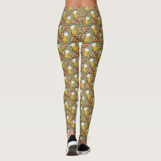 Beer and Pizza Pattern Leggings