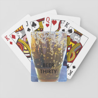 BEER AND POKER PLAYING CARDS