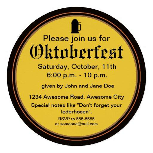 Beer and Pretzels Invitation