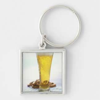 Beer and pretzels key chain