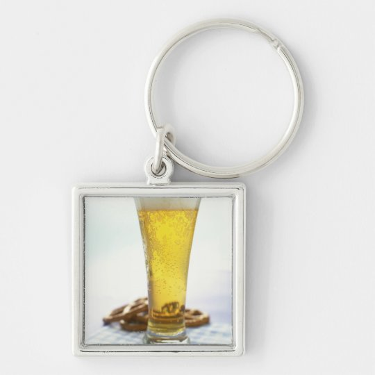Beer and pretzels keychain