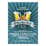 Beer and Pretzels Oktoberfest Party Invitations