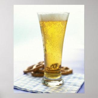 Beer and pretzels print