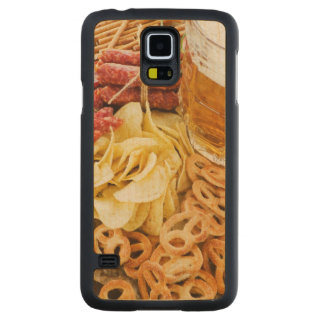 Beer And Snacks 2 Carved® Maple Galaxy S5 Slim Case