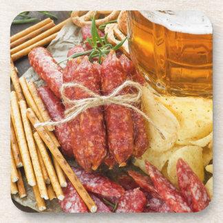 Beer And Snacks Beverage Coasters