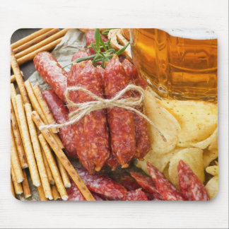 Beer And Snacks Mousepad