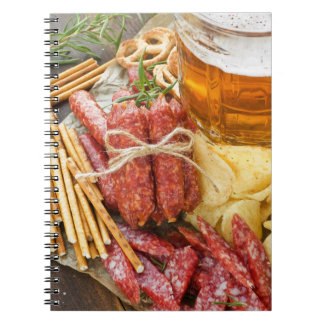 Beer And Snacks Spiral Notebook