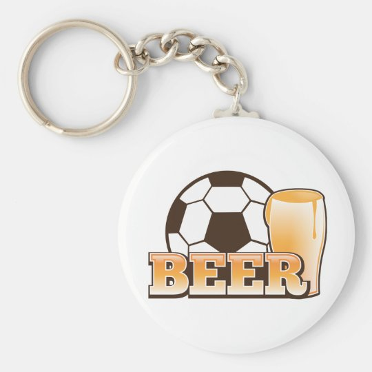 BEER and soccer football Keychain