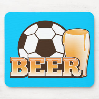BEER and soccer football Mouse Pad