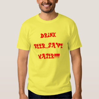 beer and water t-shirt