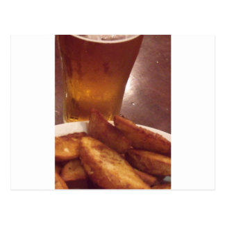 Beer and Wedges Postcard