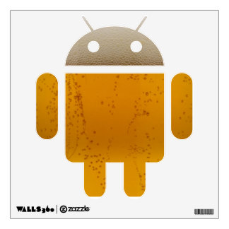 Beer Android Bot Wall Decal