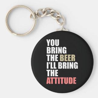 Beer, Attitude Keychain