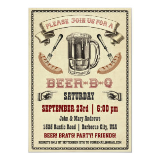 Beer-B-Q Party Invitation