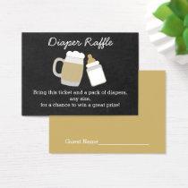 Beer Baby Shower Diaper Raffle Tickets