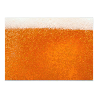 beer backround 5x7 paper invitation card
