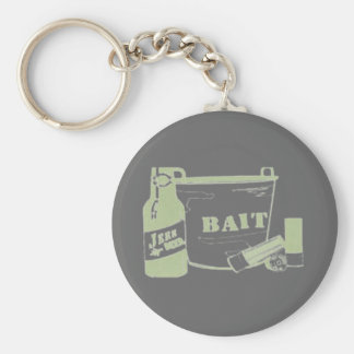 beer bait and ammo keychain
