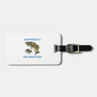 BEER BAIT AND BASS TAGS FOR BAGS