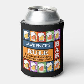 BEER Bar Pop Art custom monogram beverage coolers Can Cooler