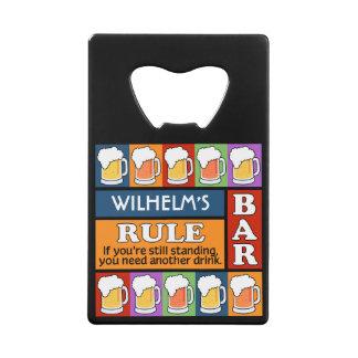 BEER Bar Pop Art custom monogram bottle opener