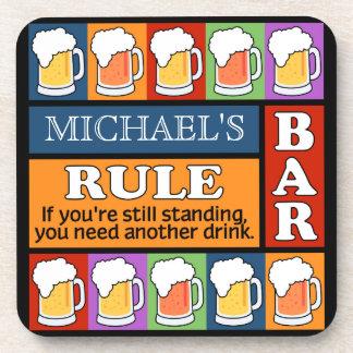 BEER Bar Pop Art CUSTOM NAME coasters