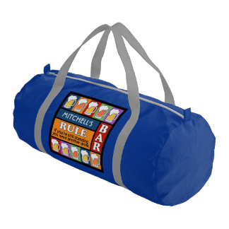 BEER Bar Pop Art custom name duffle bag