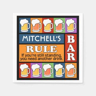 BEER Bar Pop Art CUSTOM NAME paper napkins