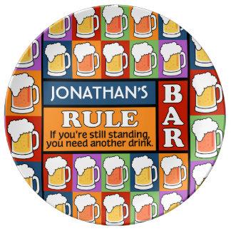 BEER Bar Pop Art CUSTOM NAME porcelain plate