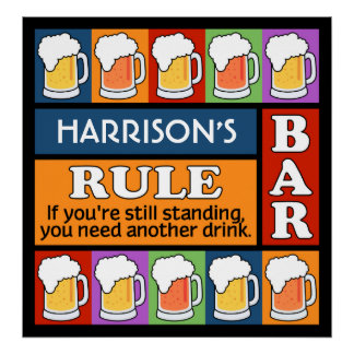 BEER Bar Pop Art CUSTOM NAME poster
