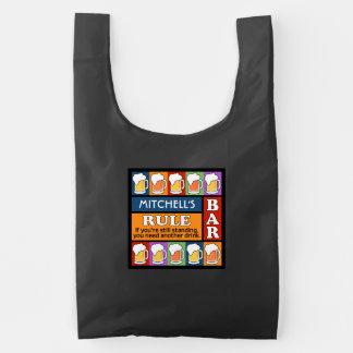 BEER Bar Pop Art custom name reusable bag