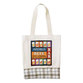 BEER Bar Pop Art custom name tote bag