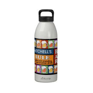 BEER Bar Pop Art CUSTOM NAME water bottles