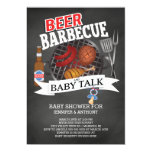 Beer Barbecue Baby Talk Baby Shower Card