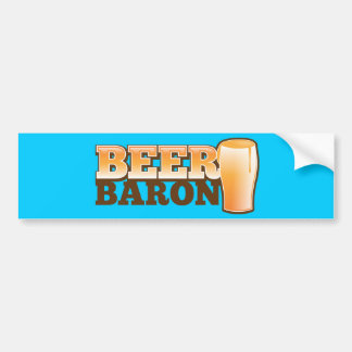 BEER BARIN design by The Beer Shop Bumper Sticker