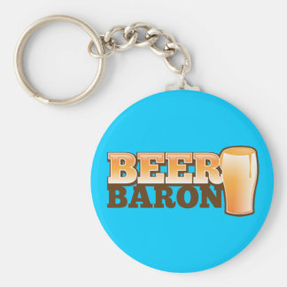 BEER BARIN design by The Beer Shop Basic Round Button Keychain