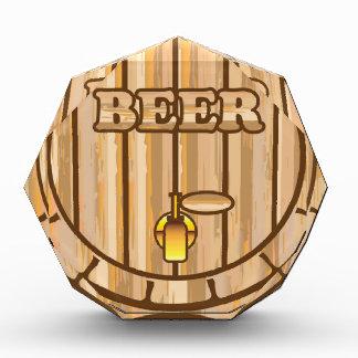 Beer barrel acrylic award