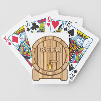 Beer barrel bicycle playing cards