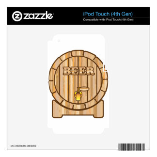 Beer barrel decal for iPod touch 4G