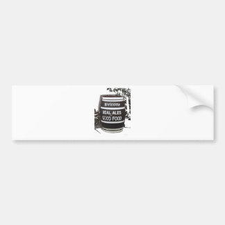 Beer Barrel real ale good food Bumper Sticker