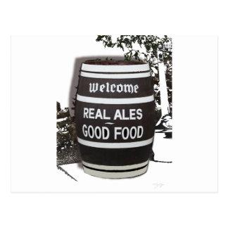 Beer Barrel real ale good food Postcard