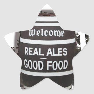 Beer Barrel real ale good food Star Sticker