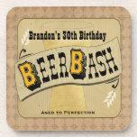 Beer Bash Birthday Coasters