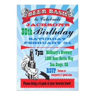 Beer Bash Birthday Party Invitations