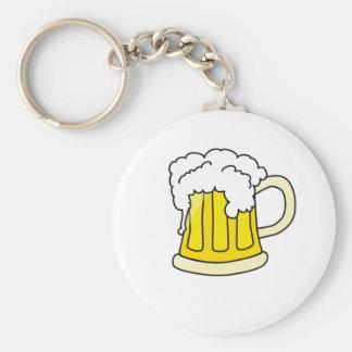 Beer Basic Round Button Keychain